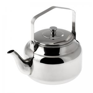 Rostfri kaffepanna att använda utomhus över öppen eld.
