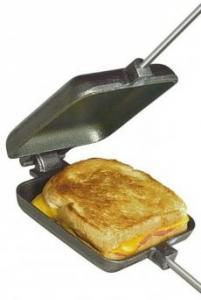 Smörgåsjärn i gjutjärn för öppen eld