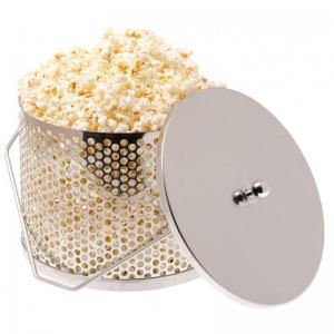 Popcorngryt från Espegard i rostfritt att hänga över lägerelden eller Braspannan.