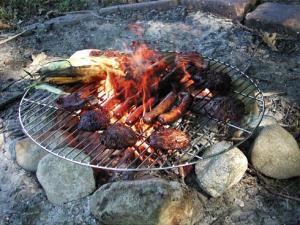 Runt grillgaller 61 cm av förkromat stål - när du vill grilla utomhus över öppen eld.