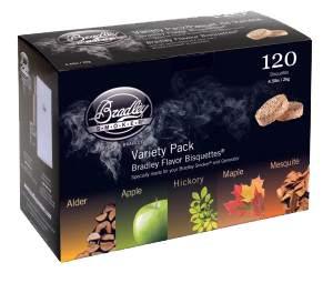 Rökbriketter Fem smaker 120-pack